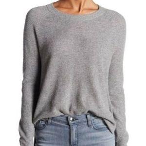 Madewell Grey Waffle Knit Alpaca Merino Sweater